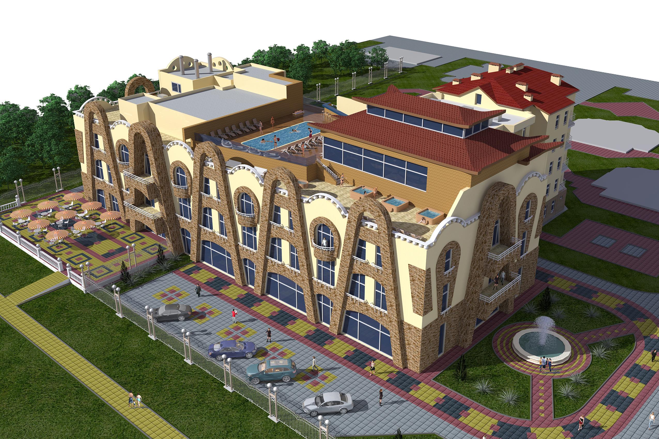 Оздоровительно-развлекательный комплекспо по Пионерскому проспекту в городе-курорте Анапа